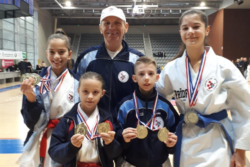 Mladi karate sokolaši odlični na 2.kolu proširene lige Slavonije, Baranje i Srijema