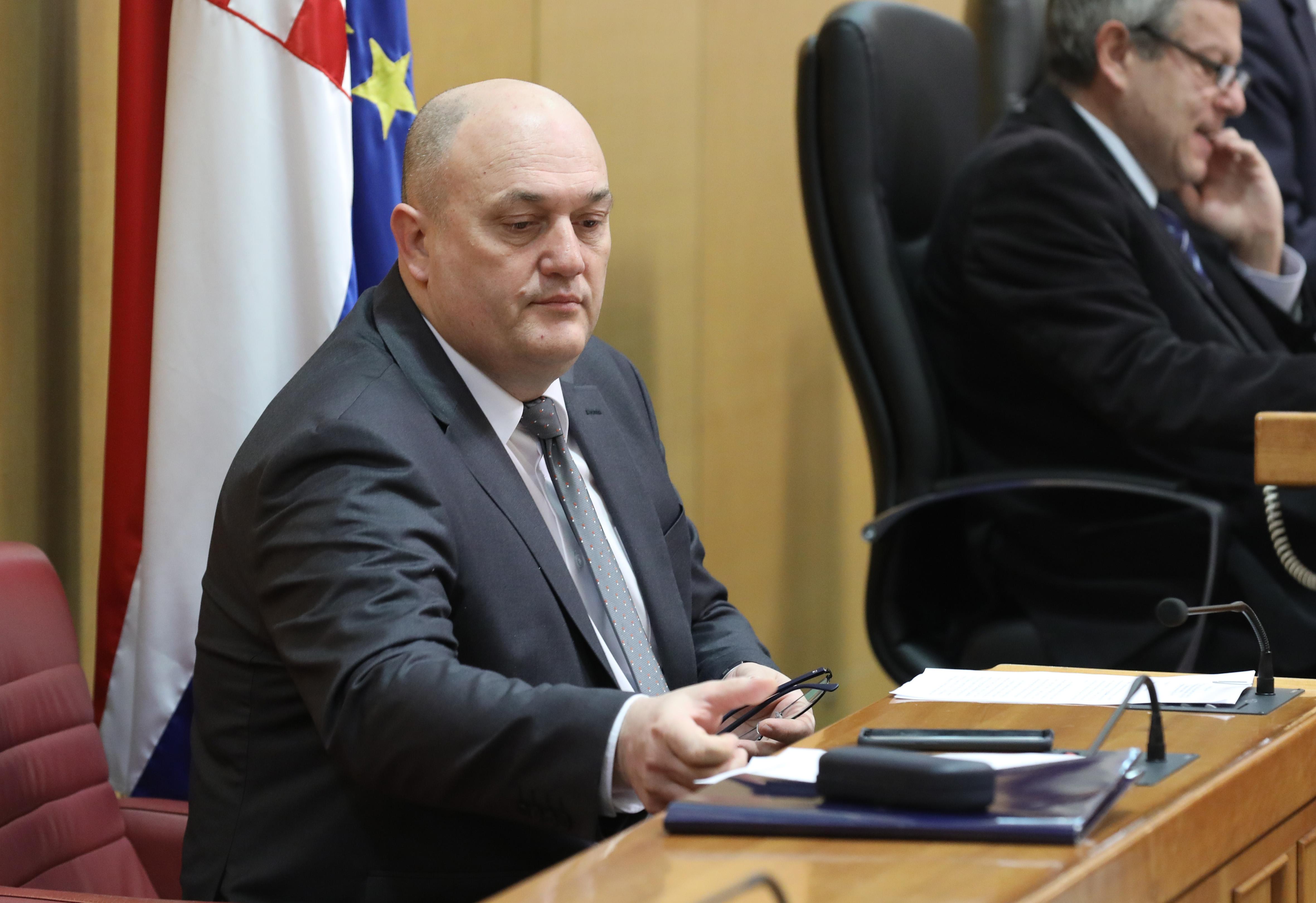 Zagreb, 14.03.2019 – Nastavak 11. sjednice Hrvatskog sabora. Na fotografiji Željko Krajičak. foto HINA/ Admir BULJUBAŠIĆ/ abu
