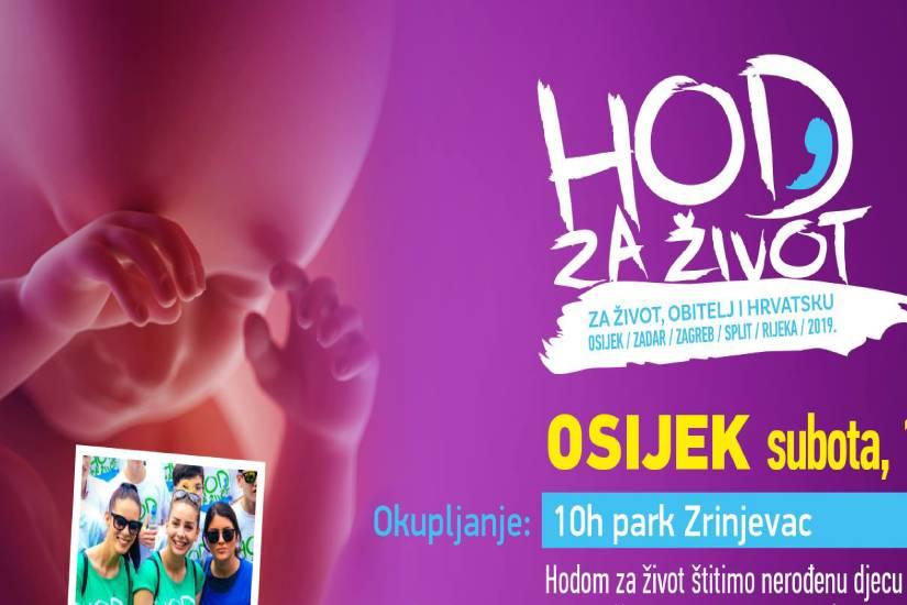 """""""Hod za život"""" prvi put u Osijeku"""