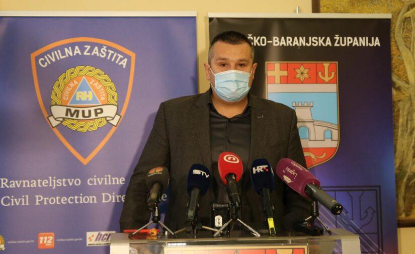U Osječko-baranjskoj županiji umrlo 10 ljudi, a još 242 osobe zaražene